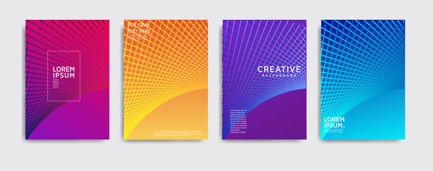 Minimal covers design. Colorful halftone gradients.background modern template design for web. Cool gradients. cool background, Future geometric patterns. Eps10