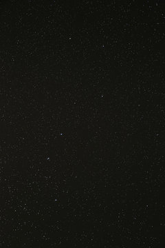 Night Sky Stars Background. Starry Night Sky With Stars. Natural Background With Black Sky And Many Stars
