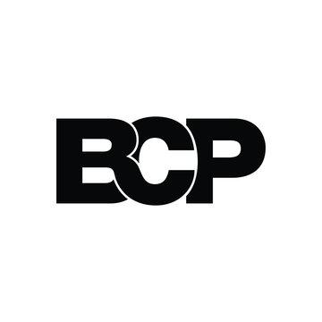 BCP letter monogram logo design