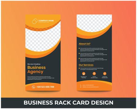 Digital marketing agency rack card design, Corporate business dl flyer design template.