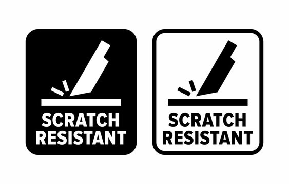 """""""Scratch resistant"""" proof to abrasion information sign"""