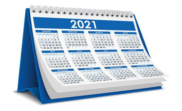 Blue 2021 Calendar