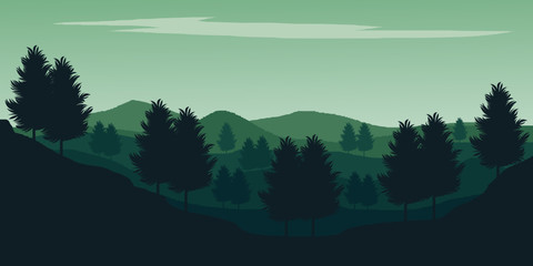 landscape with mountains and clouds vector background wallpaper ilustration