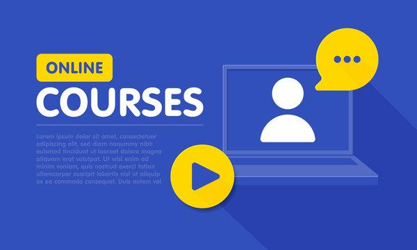 Online education resources vector line icon, online learning courses, distant education, e-learning tutorials