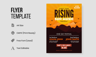Rising Sun Festival Poster and Concert Flyer