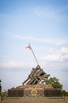 ARLINGTON VA, UNITED STATES - Aug 06, 2020: Marine Corps Memorial