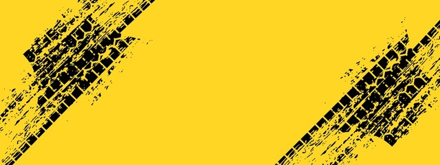 automotive banner template. Grunge tire tracks backgrounds