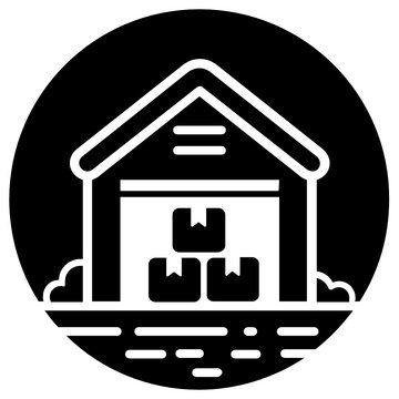 An icon design of warehouse, solid rounded vector of storage unit