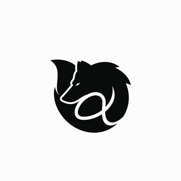 Alpha Wolf Symbol Logo Vector Illustration #2