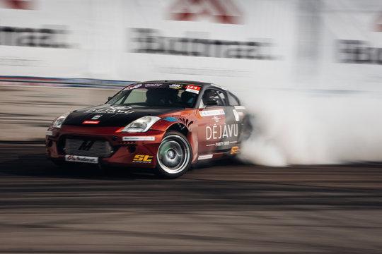 Nissan 350Z go fast in drift