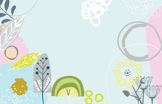 Scandinavian art and graphic design inspired blank templates