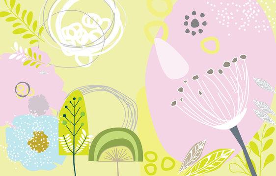 Scandinavian art and graphic design elements