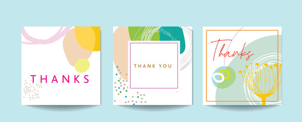 Scandinavian art and graphic design elements for a thank you card