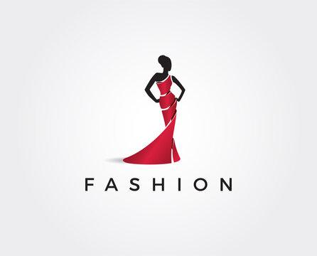 minimal fashion logo template - vector illustration