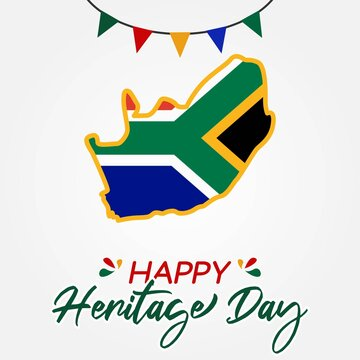 Happy Heritage Day South Africa Vector Illustration