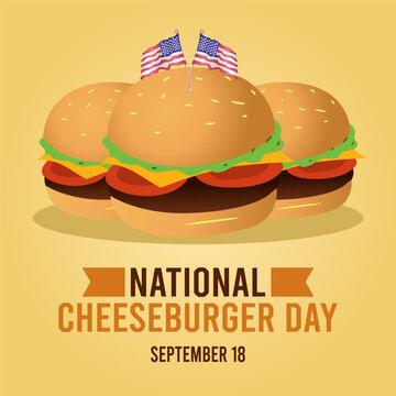 National Cheeseburger Day Vector Illustration