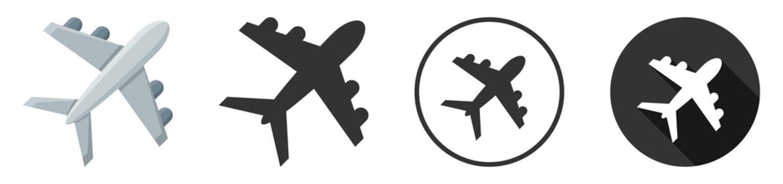 airplane icon symbol vector illustration set