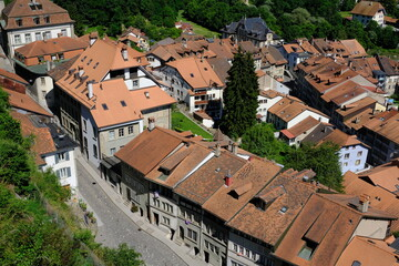 Fribourg Old town rooftops, Fribourg, Switzerland