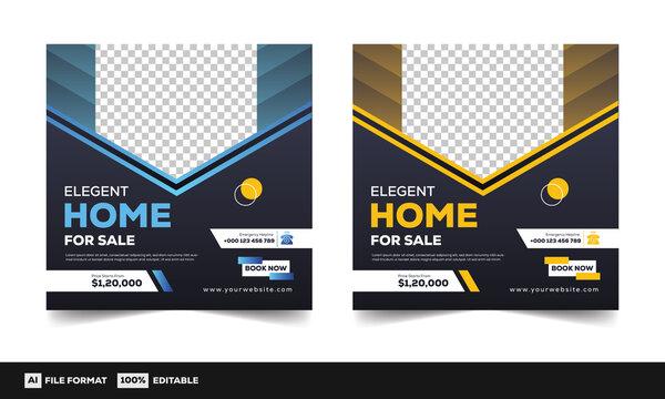 Real estate flayer templates, real estate social media media banner templates