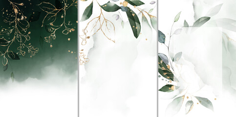 Akwarela z liści