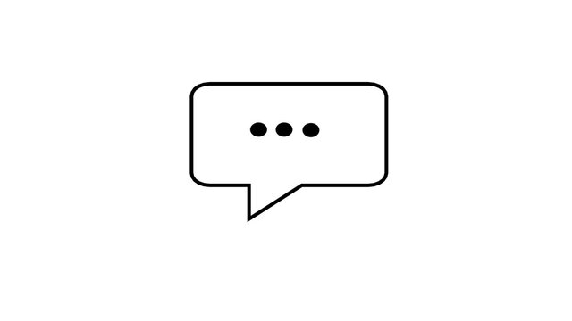 A simple element of a pop-up message, email, or text message with slow-thinking dots inside to remind you that someone has been typing a message for a long time. Animation