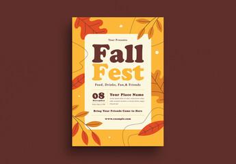 Fall Fest Flyer Layout