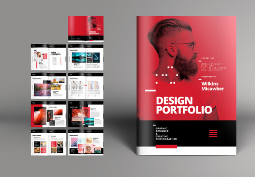 Red Portfolio Brochure Layout