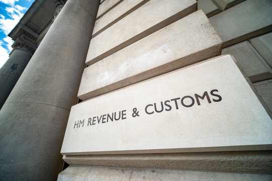 London- HM Revenue and Customs building on Whitehall, UK Government department