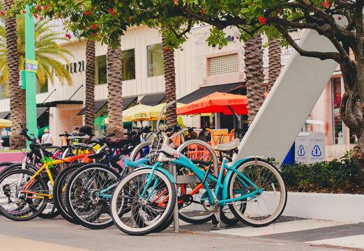 Lincoln road bike rack is full