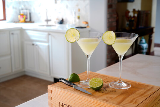 Vodka Lime Coconut Martini Cocktail