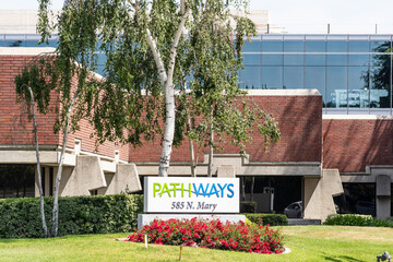 May 10, 2020 Sunnyvale / CA / USA - Pathways Home Health and Hospice location in South San Francisco Bay Area