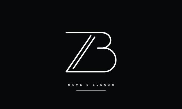 ZB,BZ ,Z ,B  Abstract Letters Logo Monogram