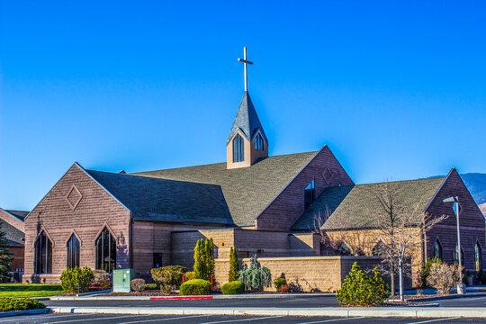 Modern Church With Steeple