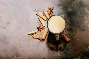 Masala chai served with cinnamon