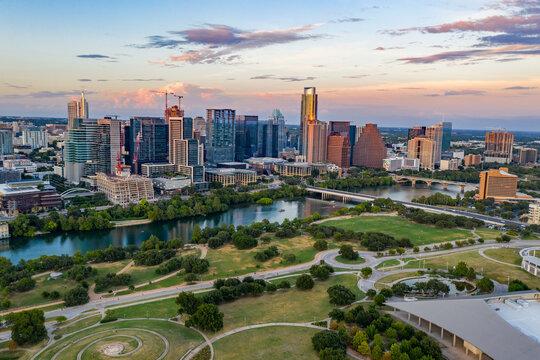 Austin Sunset Aerial