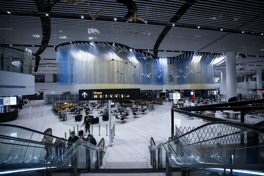 18 June, 2020 Auckland - Auckland International Airport inner view under Covid-19. There were few inhabitants round the place effect from COVID-19 outbreak and lockdown
