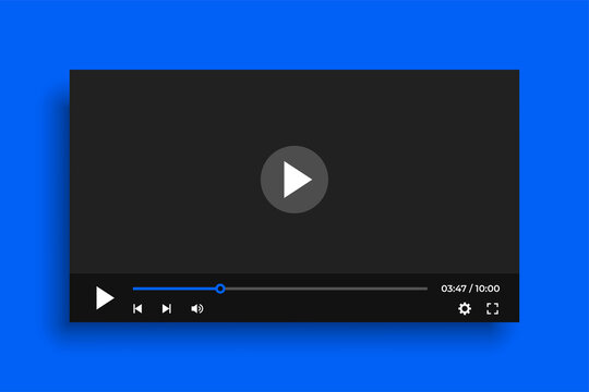 clean video player template with simple buttons