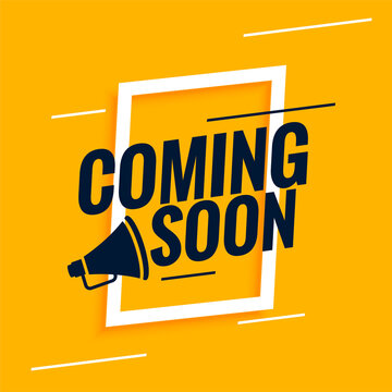 coming soon background with megaphone design