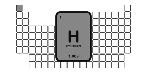 hydrogen chemical table of elements vector illustration
