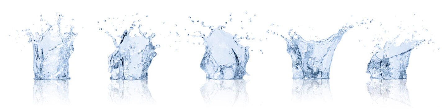 real image water splash isolated on white background with clipping path..