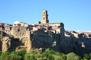 Tuscany landscape, the countryside of Maremma, Pitigliano