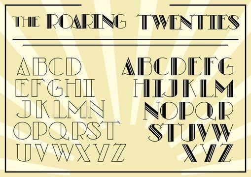 The Roaring Twenties Art Deco Style Font