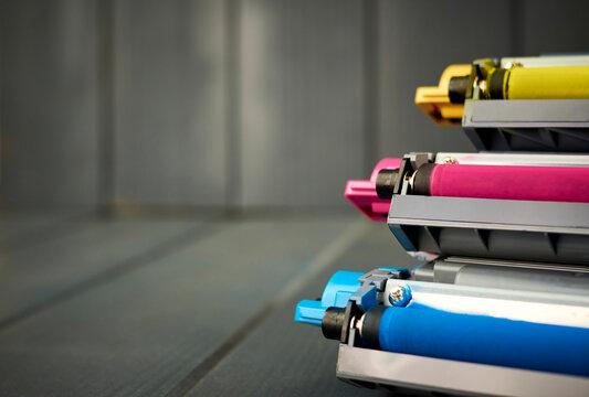 Color toner cartridges for color laser printer