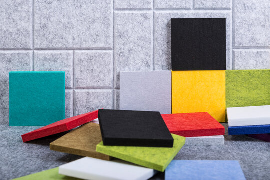 Advanced polyester materials for improved indoor acoustics