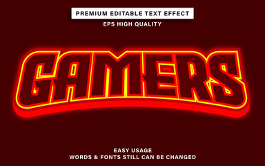 Wall Mural - Gamers text effect