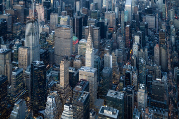 Aerial view of the Chrysler Building in New York City, USA