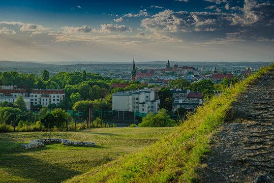 Widok z Kopca Krakusa na Kraków