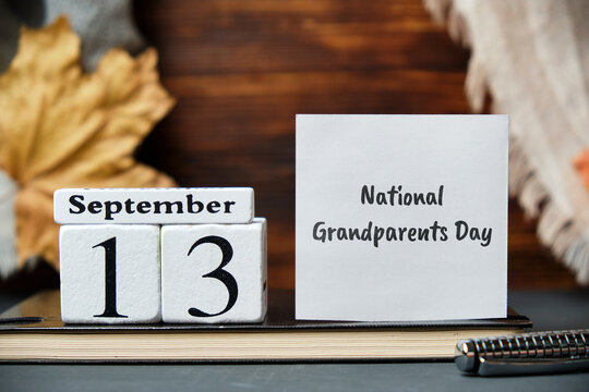 National Grandparents Day of autumn month calendar september