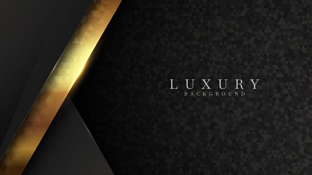 Luxury gold background Along with the effect of geometric shapes, triangles shine. Abstract backdrop vector illustration.