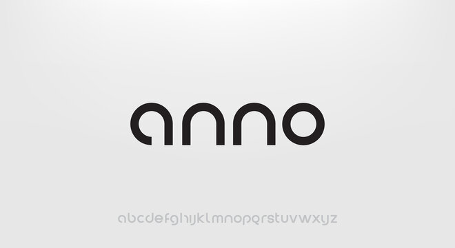 anno, Abstract technology science alphabet lowercase font. digital space typography vector illustration design